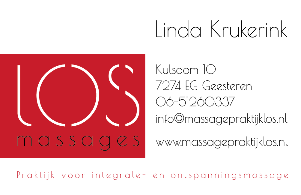 Visitiekaartje LOS massages
