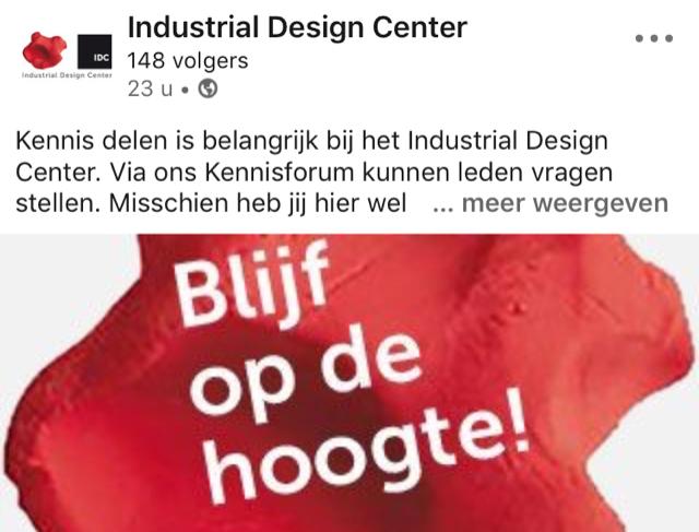 Online promotie Industrial Design Center