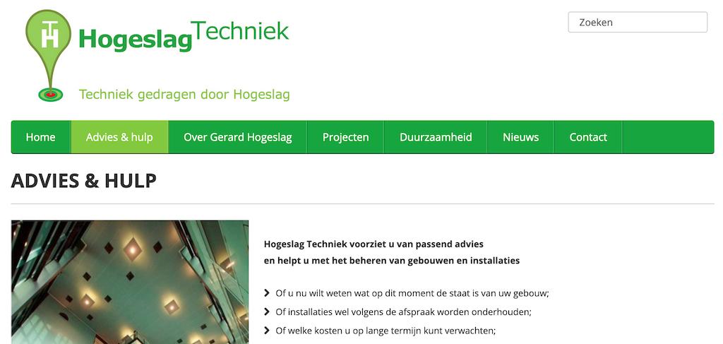 Website Hogeslag Techniek