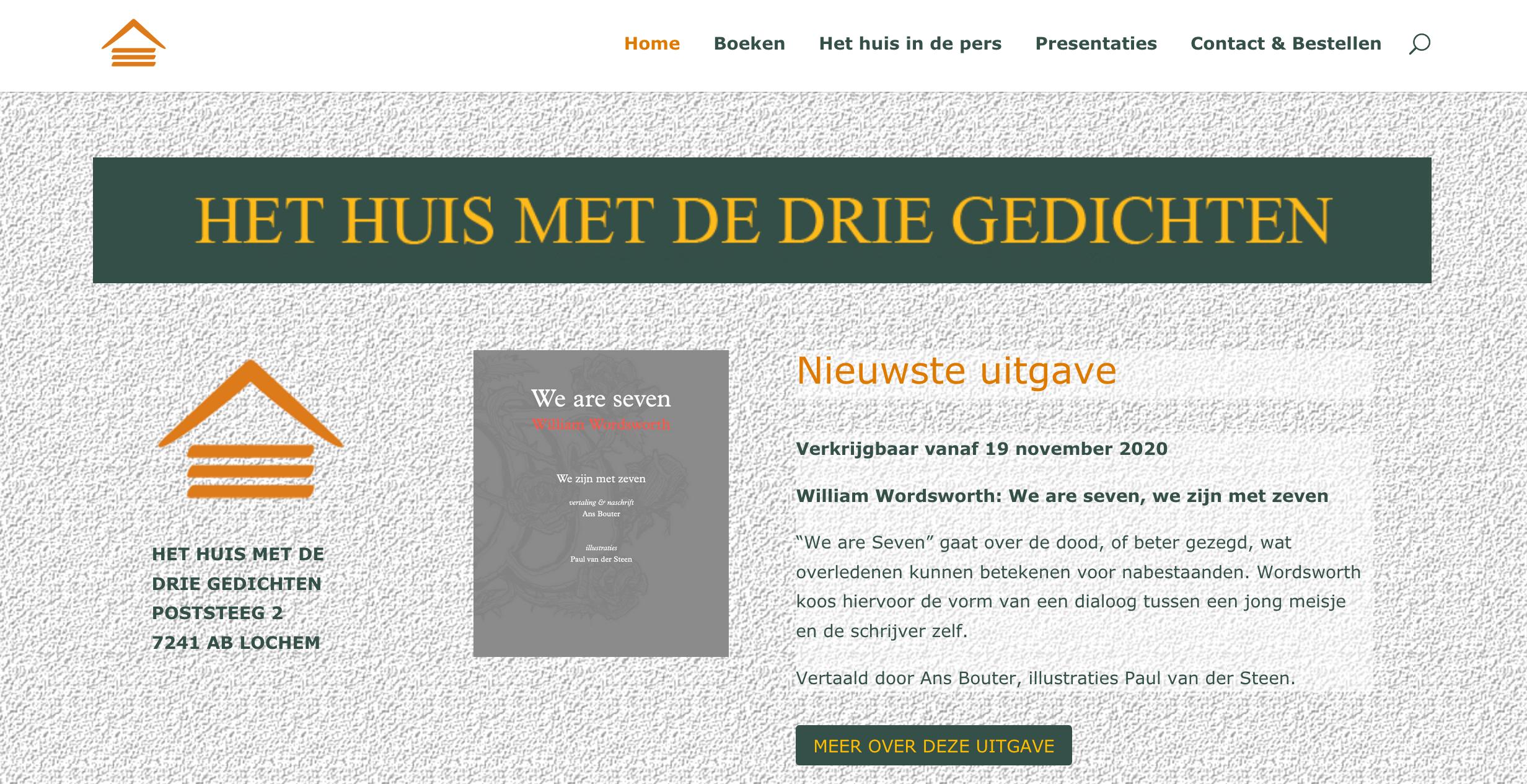 Website huismetdedriegedichten.nl